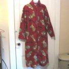 Delicates Robe Size Large Lazy Bones Warm Winter Zip Up Robe with Dogs and Bones #900622