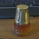 Avon Golden Thimble Cologne Decanter with Charisma Cologne  #900642