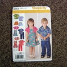 Simplicity Sewing Pattern 3856 Toddler Pants, Skirt, Jumper, Shirt & Bolero, A (1/2 1 2 3 4) #900686