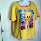 Women's Ladies Tweety Bird T shirt Top size large L XL #900698