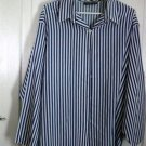 Blue and White Striped Special Preview Shirt Extra Large  #900220