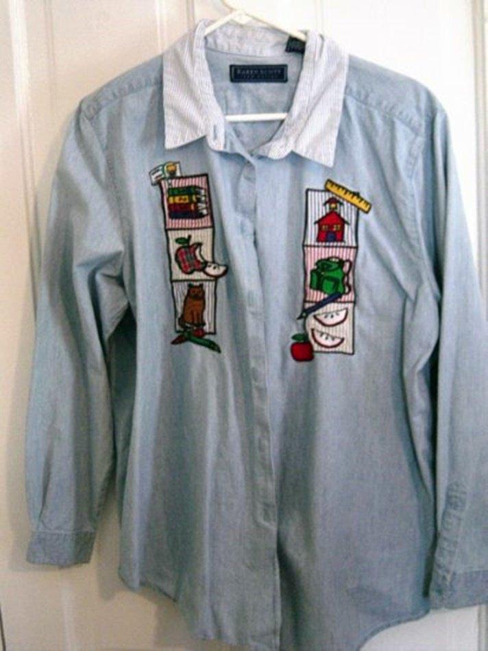 Beautiful Karen Scott  Long Sleeve Shirt Size Extra Large  #900051