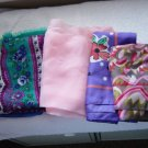 Five Colorful Ladies Scarves Square and Long #900015