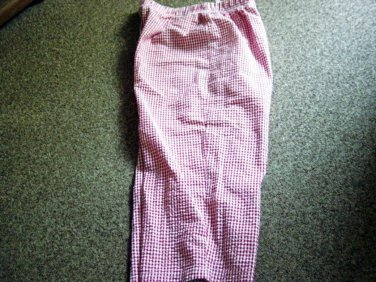 Pair of Red and White Bobbie Brooks Elastic Waist Capri Pants Size L (14-16) #900475