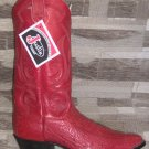 JUSTIN Antique Red Smooth Ostrich NEW Cowboy Boot 12 EE FREE SHIPPING