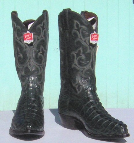 NEW TONY LAMA Cyprus HB GATOR Tails Cowboy Boot Men's 12 D Free Shipping