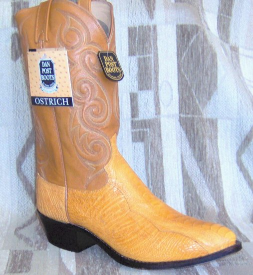 DAN POST Buttercup OSTRICH Leg Exotic New Cowboy Boots 12 D Free Shipping