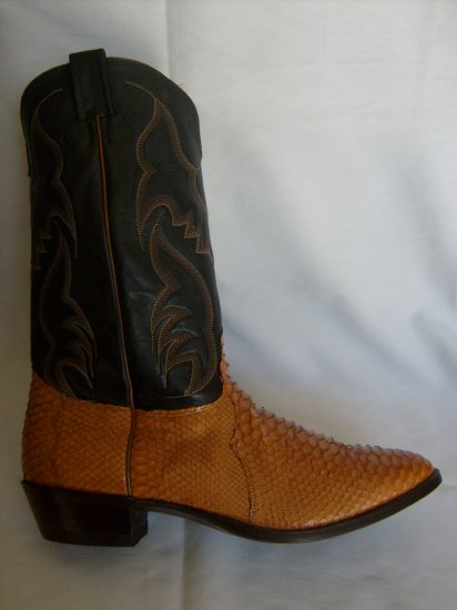 NOCONA Cognac SNAKE SKIN NEW Cowboy Boot Men's 13 EEE (3E) Free Shipping