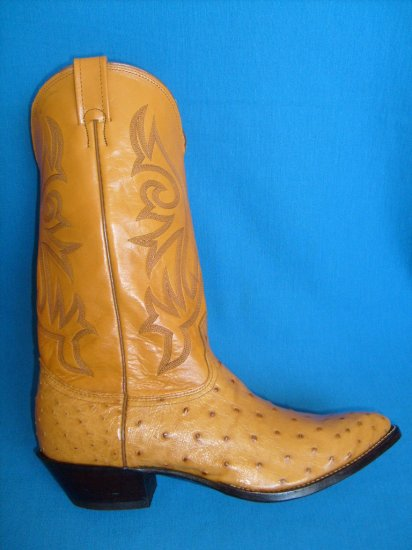 NOCONA Full Quill OSTRICH Triger New Cowboy Boot Men's 9 EE FREE SHIPPING
