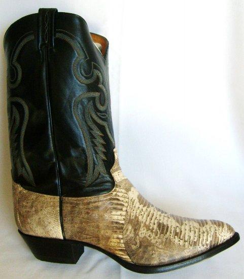 TONY LAMA Natural LIZARD Cowboy Boot NEW Men's 15 D FREE SHIPPING