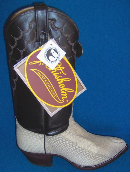 J CHISHOLM Hooded COBRA Snake Skin NEW Cowboy Boot 8 EE FREE SHIPPING