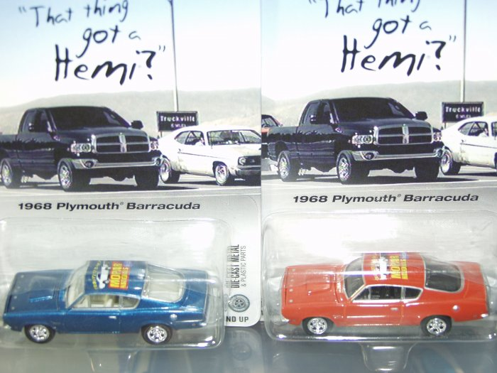 Johnny Lightning Liberty Promotions 2003 Mopar Nationals '68 Plymouth Barracuda 2 Car Set