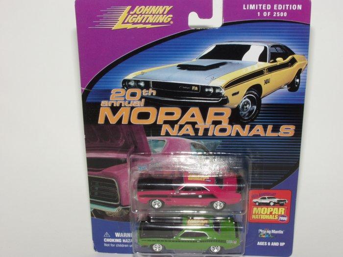 Johnny Lightning 2000 Mopar Nationals '70 Challenger & Cuda Set