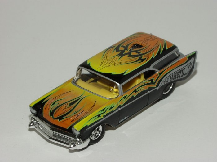 Hot wheels 2002 100% Troy Lee Designs '57 Chevy Nomad 1/64 Scale Loose
