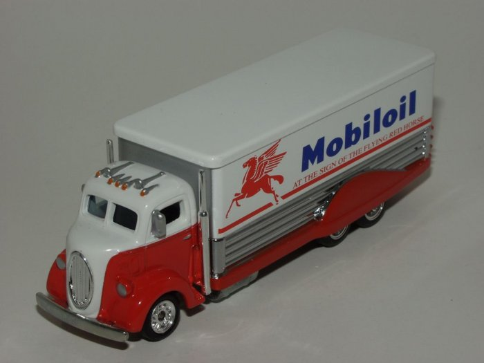 Hot wheels 2002 Redline Club Mobil Oil '38 Ford COE Red and White 1/64 Scale Loose
