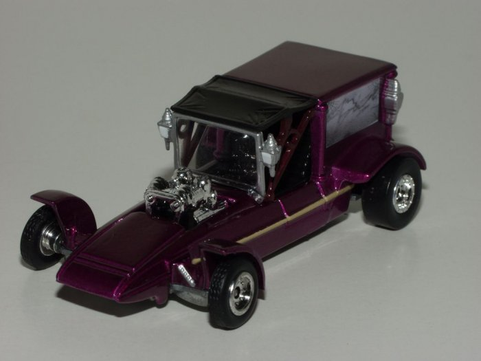 Johnny Lightning 1999 Fright'ning Lightning Surf Hearse Magenta Loose