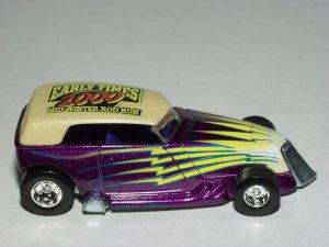Hot wheels 2000 Early Times Mid Winter Rod Run Phaeton Purple 1/64 Scale Loose