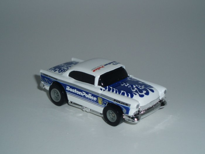 Hot Wheels K-B Toys Cop Rods Series 1 '55 Chevy Real Riders 1/64 Scale Loose