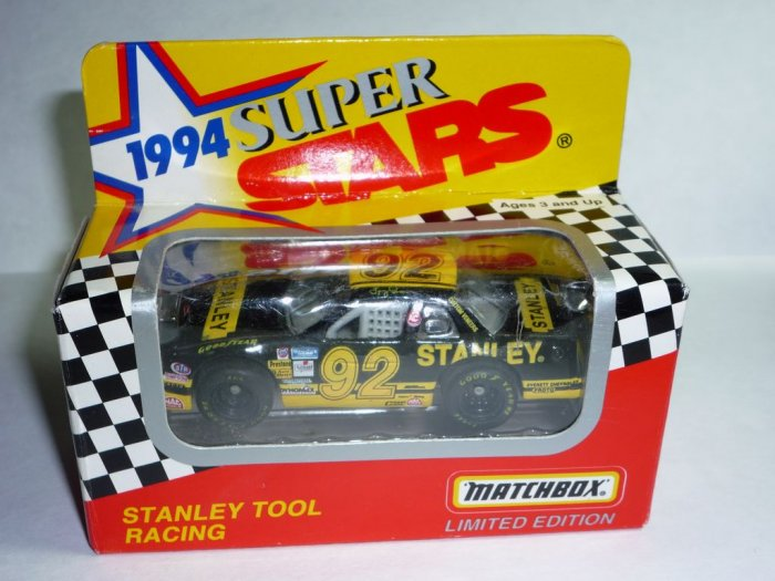 1994 Series II White Rose Collectibles Matchbox Super Stars Stanley Tool Racing #92