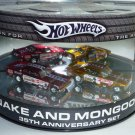 2005 Hot Wheels Showcase Snake and Mongoose 2 Car Set