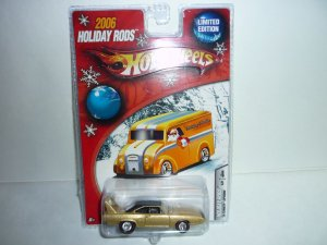 2006 Hot Wheels Holiday Rods '70 Plymouth Superbird...Gold