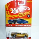Hot Wheels Classics Series 2 1967 Camaro Convertible...Gold