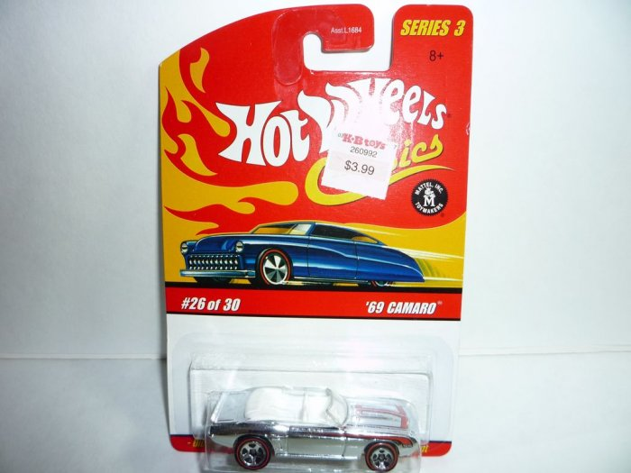 Hot Wheels Classics Series 3 '69 Camaro...Chrome