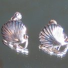 Sterling Silver Nautical Seashell Set Sea Shells Earrings Screwback