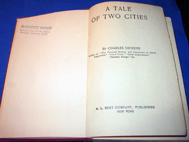 A Tale of Two Cities by Charles Dickens With Unique Error Vintage HC Book