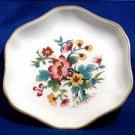 Set of Coalport Bone China Ming Rose Bone China Floral Pattern Trinket Dish and Salt Cellar