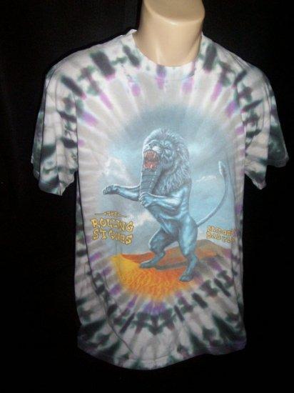 THE ROLLING STONES Tie Dye Concert Tour T Shirt L Large