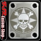 (C0002) CHROME SKULL LIMITED EDITION fits 4bolt neck/body guitar