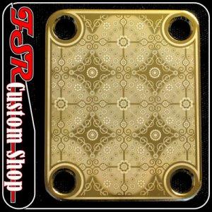 (G0013) GOLD NECK PLATE fits ibanez/jackson/fender tele strat