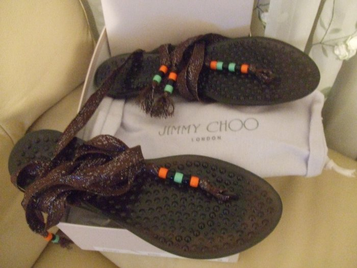 JIMMY CHOO LONDON SANDALS SIZE 8 RETAIL $230