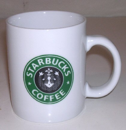 Vintage Starbucks Coffee Mug Original Siren BELLY BUTTON LOGO Mermaid Siren Logo