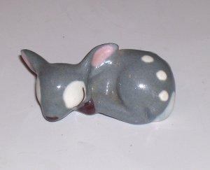 Rare Vintage Hagen-Renaker Grey Sleeping Fawn Figurine / Miniature Figurine