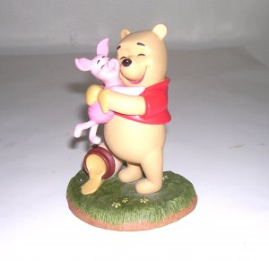 Disney Pooh and Friends Figurine A good friend sticks to you like Honey  Pooh  Piglet Figurine