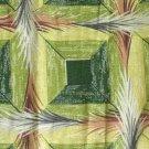Large Genuine 1950's Vintage Bark Cloth Fabric Curtain Panels Deco Feathers Barkcloth