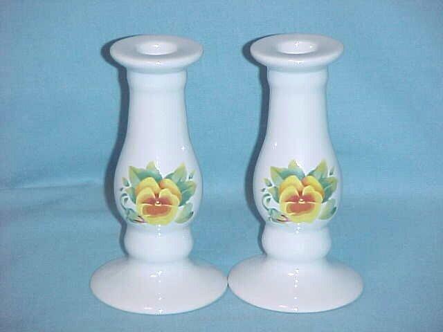Corelle Summer Blush Candle Sticks (Pair)