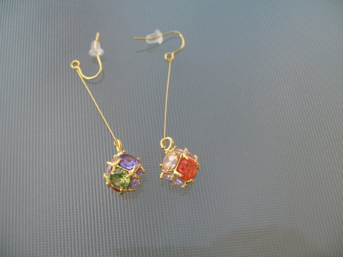 Sapphire Amethyst Emerald Ruby Pink Clear Quartz Dangle Earrings