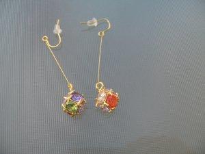 Sapphire Amethyst Emerald Ruby Pink Clear Quartz Dangle Earrings