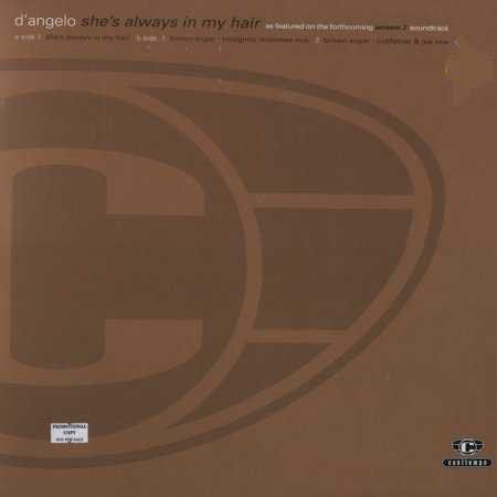"D'Angelo She's Always In My Hair Promo12"""" Sin"
