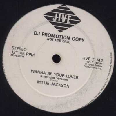 "Millie Jackson Wanna Be Your Lover Promo12"""" S"