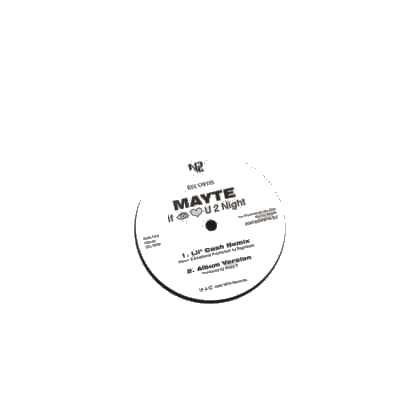 "Mayte If I Luv U 2 Night Promo12"""" Single"