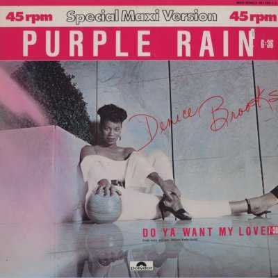 "Denice Brooks Purple Rain 12"""" Single"