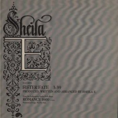 "Sheila E Sister Fate Promo12"""" Single"