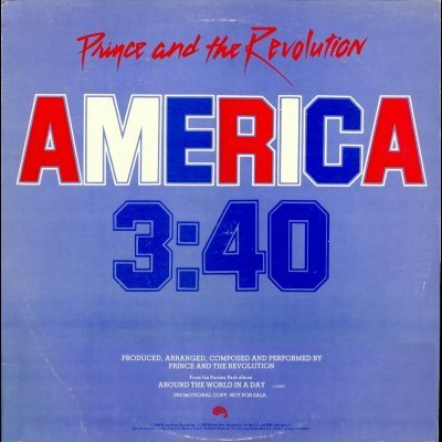 "Prince and The Revolution America Promo12"""" Si"