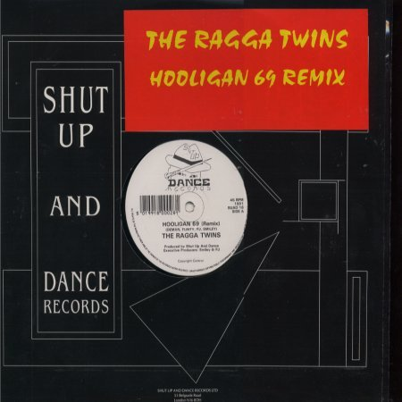 "The Ragga Twins Hooligan 69 Remix 12"""" Single"