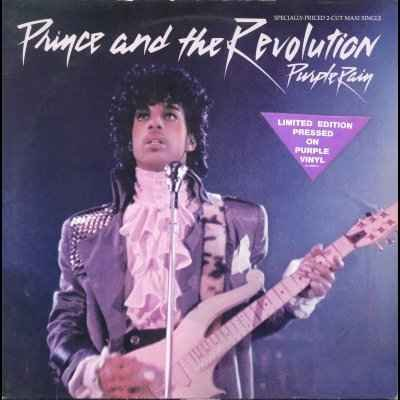 "Prince and The Revolution Purple Rain 12"""" Sin"