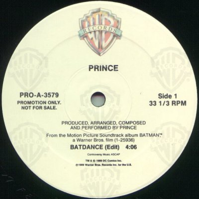 "Prince Batdance Promo12"""" Single"